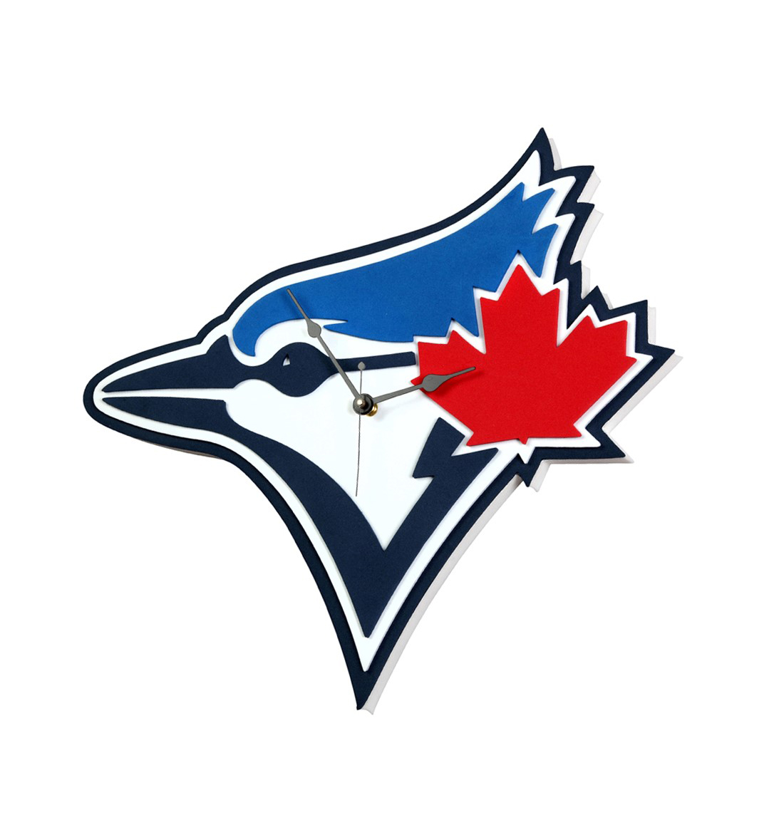 Official Mlb Licensed Toronto Blue Jays 3d Foam Wall Clock By Fan Fave